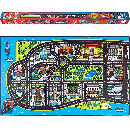 Road Giant Rug (Play Mat for Kids. A Large, Road and Car Rug with map of New York City. Unique, Educational, Floor Playmat for Children, Toddlers. Ideal mats for Cars, Toys, in a Playroom, Bedroom or Activity Room)