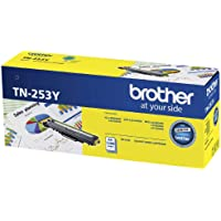 Brother Genuine TN253Y Printer Toner Cartridge, Yellow, Page Yield Up to 1300 Pages, (TN-253Y) Compatible with: HL…