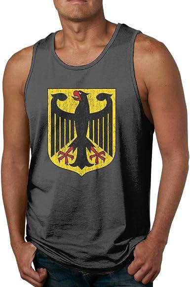 Para hombre envejecido escudo de armas de Alemania camiseta ...