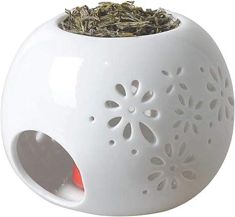 Hwagui High Quality Ceramic Tea Light Holder Wax Warmer Aromatherapy Essential Oil Burner Home Decorative For Spa Yoga Meditation Amazon Ca Home Kitchen