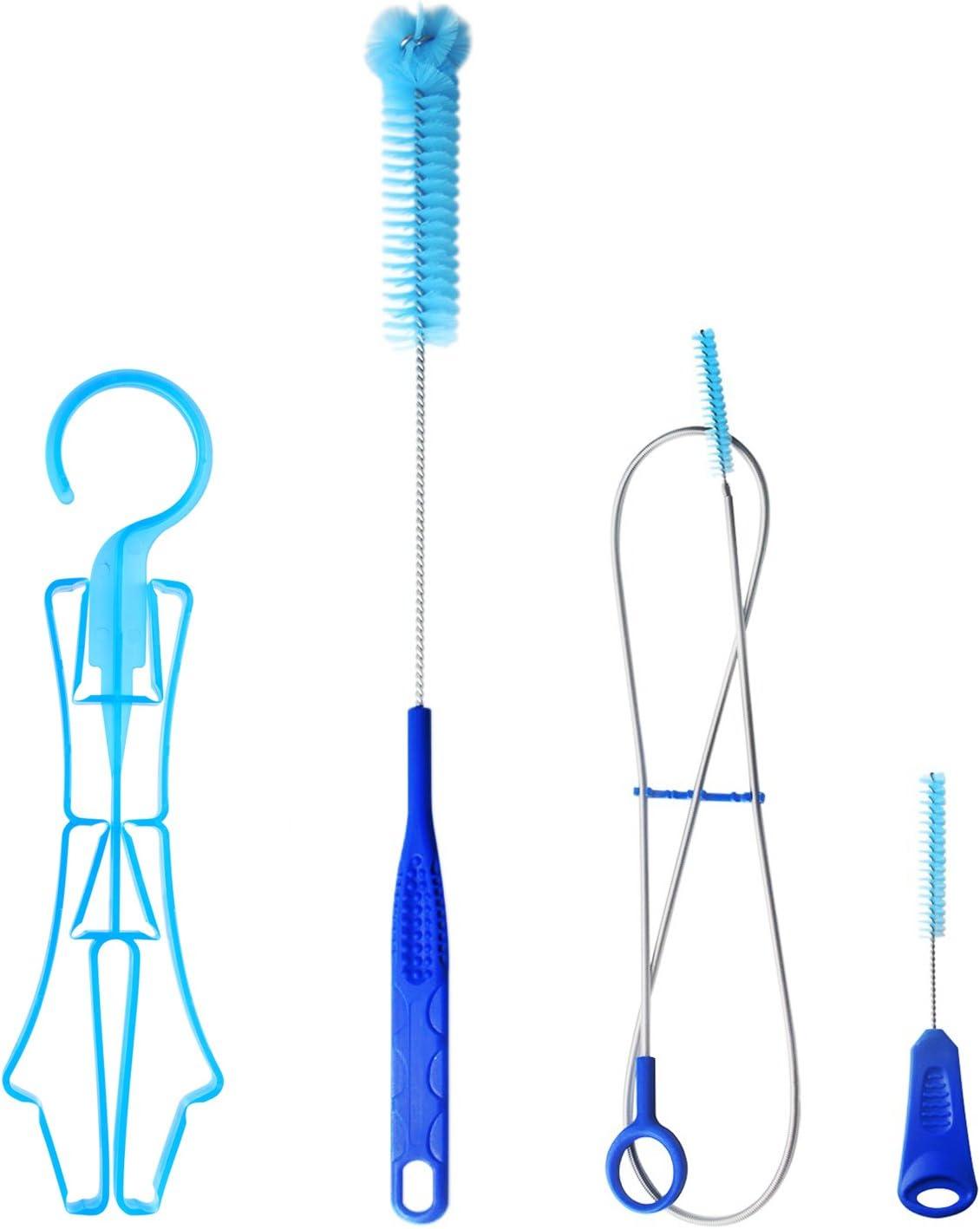 Tagvo Kit de Limpieza de la vejiga de hidratación para el depósito de Agua Universal, Juego de Limpieza 4 en 1
