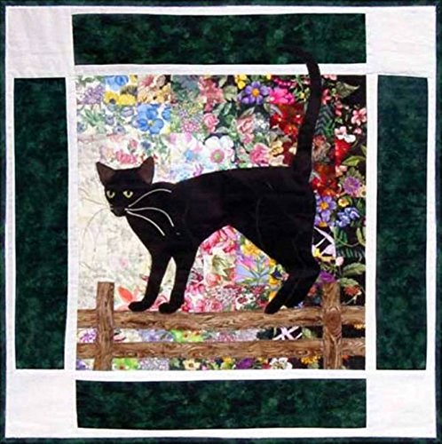 Watercolor Quilt Kit - Rachel's Cat Garden - Block 9 - Oriental Shorthair Cat Shadow - KIT ONLY! ()