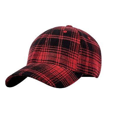 fangkuai-hat Ajustable Tartán Gorra de Béisbol Mujer Hombre ...