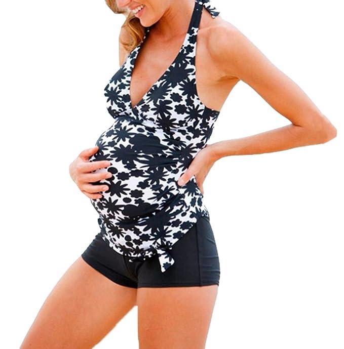 Costume da bagno gravidanza maternità costume da bagno donna 2 pezzi ...