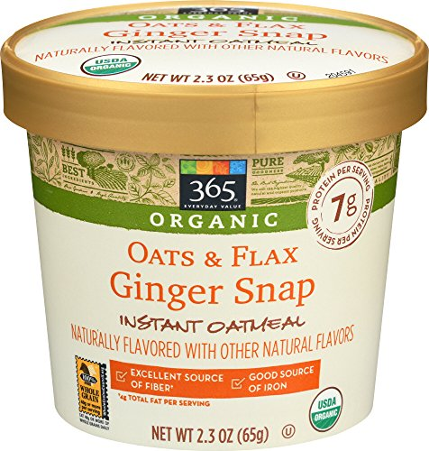 365 Everyday Value, Organic Oats & Flax Ginger Snap Instant Oatmeal, 2.3 oz ()
