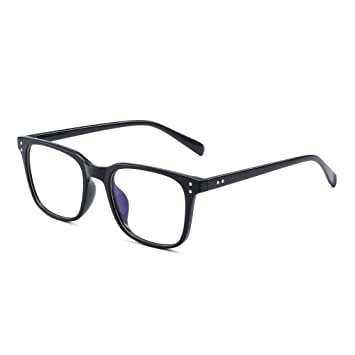 1ed70832cd JM Blue Light Blocking Computer Glasses Anti Blue Ray Square Eyeglasses  Reduce Eye Strain for Women