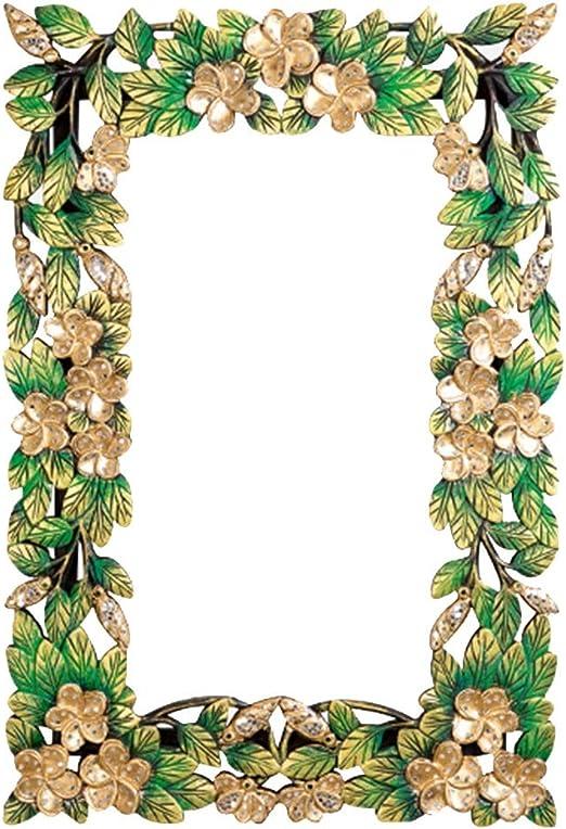Espejo vestidor Espejo de vanidad sólido Tallado jardín Creativo baño Espejo Pintado Pared Espejo: Amazon.es: Hogar