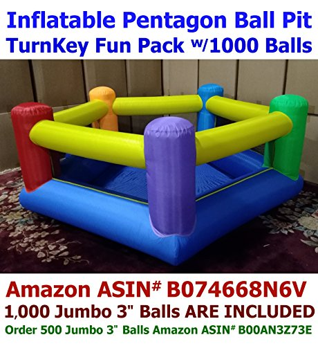 BALLS INCLUDED - My Bouncer Perfect Little Pentagon Ball Pit Popper - Great for Indoor Use - 90