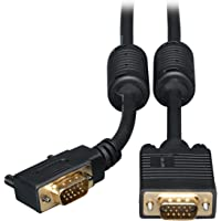 Tripp Lite VGA Coax Right Angle Monitor Cable High Resolution cable with RGB coax (HD15 M/M) 10-ft.(P502-010-RA)