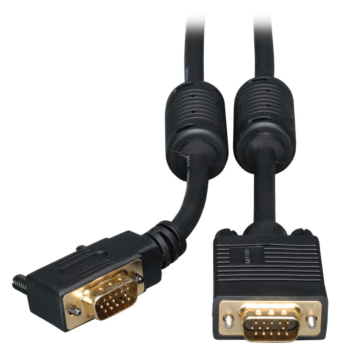 Vga Coax Right Angle Monitor Cable High Resolution Cable With Rgb Coax (Hd15 M/M TRIPP LITE P502-010-RA