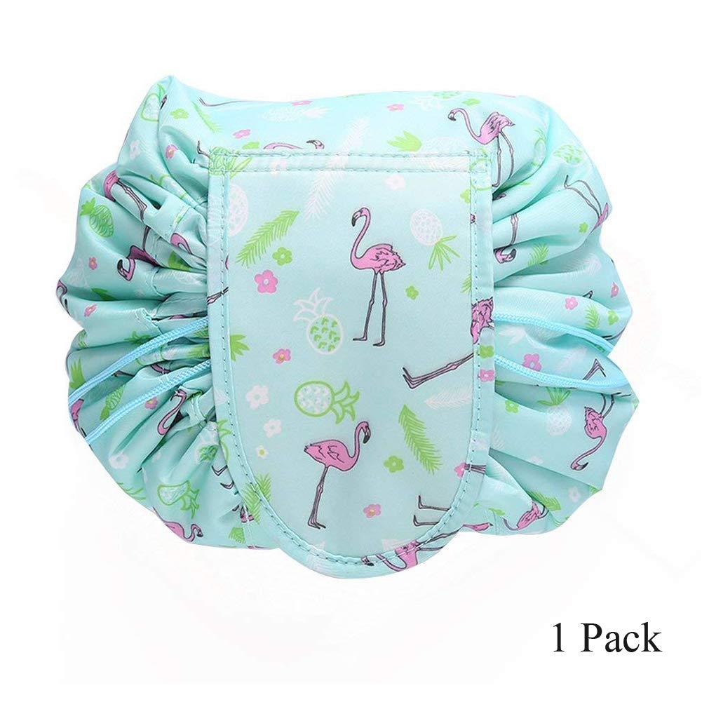 SOUNDMAE Lipstick Lazy Cosmetic Bag Portable Large Capacity Drawstring Makeup Bag Beam Mouth Lazy Cosmetic Bag Storage Bag Cosmetic Pouch Travel Storage Bag for Women Girls, 1 Pack