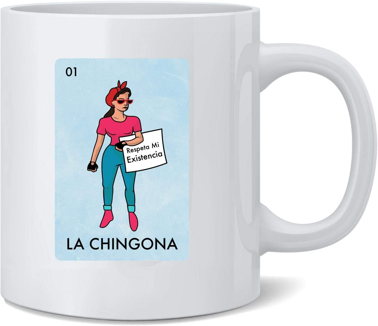 La Chingona Mexican Lottery Parody Feminist Latina Ceramic Coffee Mug Tea Cup Fun Novelty Gift 12 oz