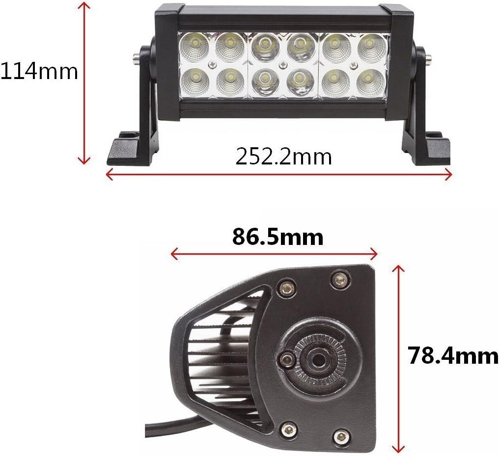 LARS360/® 2x36W Arbeitsscheinwerfer LED Auto Scheinwerfer Beleuchtung Arbeitsleuchte Light Bar Offroad Zusatz Scheinwerfer Wasserdicht IP67