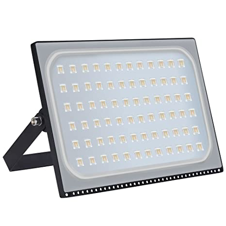 Heilsa 500W LED Flood Light, 55000LM 2800-3000K (Warm White) IP67 Waterproof Super Bright Outdoor Floodlight for Garden Yard, Lawn, Playground, ...