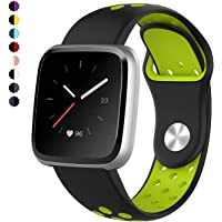 TERSELY Sport Band Strap for Fitbit Versa/Versa Lite, Breathable Soft TPU Silicone Ventilate Replacement Bands Fitness Sports Bracelet Strap for Fitbit Versa/Lite Tracker