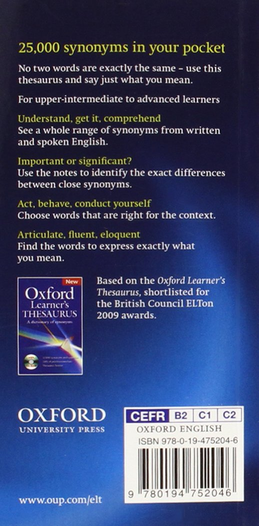 Buy oxford learners pocket thesaurus book online at low prices in buy oxford learners pocket thesaurus book online at low prices in india oxford learners pocket thesaurus reviews ratings amazon solutioingenieria Choice Image