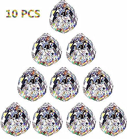 Crystal Ball Prisms Pendant Feng Shui Suncatcher Decorating Hanging Faceted Prism (Crystal Prism Pendant)