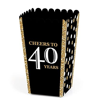 Amazon.com: Adulto 40º cumpleaños – Oro – Fiesta de ...