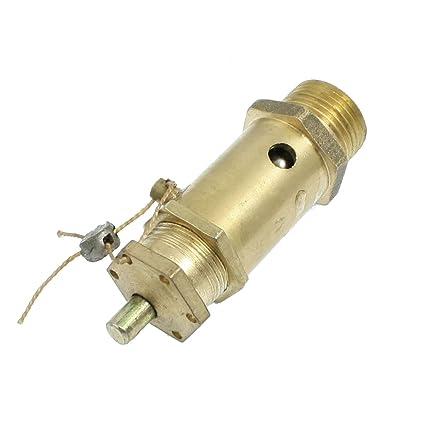 """Sourcingmap a12081300ux0380 - Laton 1/4""""presión de seguridad del compresor de aire rosca"""