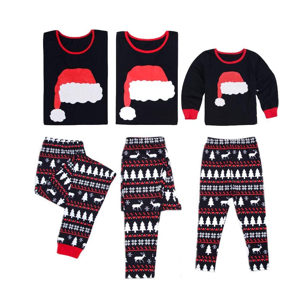 Pijamas de Navidad Establece la Ropa Familiar Ropa de Dormir Manga Larga Ropa de Casa para el Padre Madre Niños Bebé: Amazon.es: Ropa y accesorios