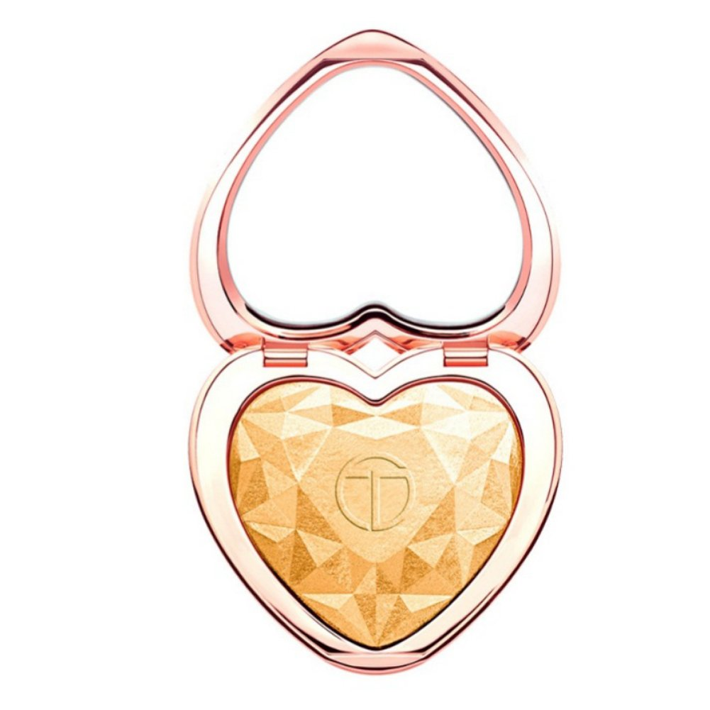 ROMANTIC BEAR Heart Shape Baking Shimmer Highlighter Powder with Mirror, 9g (LIGHT) ROMANTIC BEAR.
