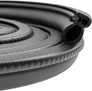Automotive Door Rubber Seal Trim Seal Strip with Side Bulb for Cars, Boats, Trucks, RVs, and Home Applications - PVC Bulb Trim with EPDM Rubber Seal (10Ft)