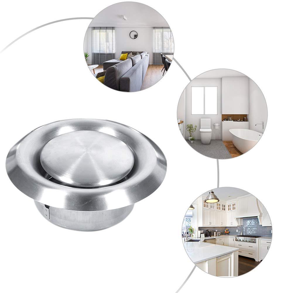100mm Acier inoxydable rond Grille de ventilation couvrir pour bain ventilateur dextraction dair