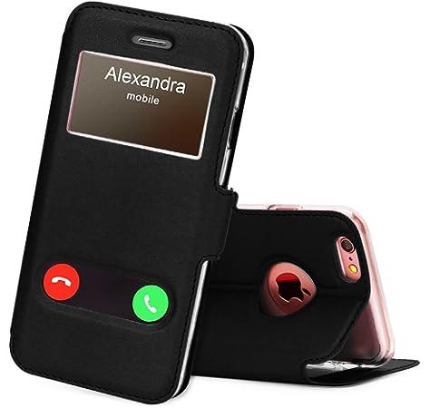 06f3376c6bd FYY Funda iPhone 6, Funda iPhone 6S, De Soporte Magnetico en la Parte  Cubierta y Funcion de Ventana con Vista a Pantalla Superior para Apple  iPhone 6/6S ...