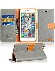 IPHOX Coque iPhone 8 / 7, Housse iPhone 8 / 7 Etui en Cuir Portefeuille de Protection Emplacements Cartes avec Fonction Support et Languette Magnétique pour iPhone 8 / 7 , Bleu / J