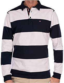 Camiseta de Rugby de Manga Larga a Rayas Cosidas en la Fila ...