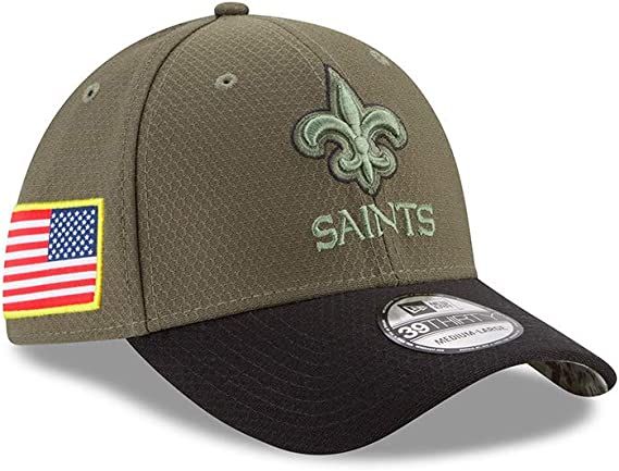 New Era New Orleans Saints 2019 Official Road Sideline 39THIRTY Stretch Fit Cap
