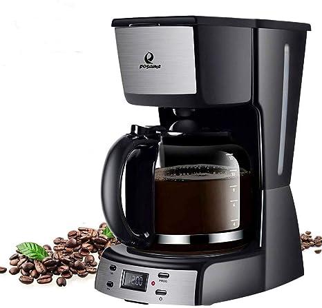 Amazon.com: Cafetera eléctrica Posame, 12 tazas, programable ...