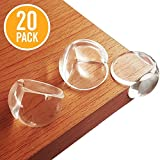 BYETOO Baby Safety Corner Guards,20 Pcs Premium Clear Furniture Edge Corner Protectors with Strong 3M Stickers Adhesive,Baby Safety Desk Table Sharp Corner Cushion Padding,Keep Children Safe - 20 Pack