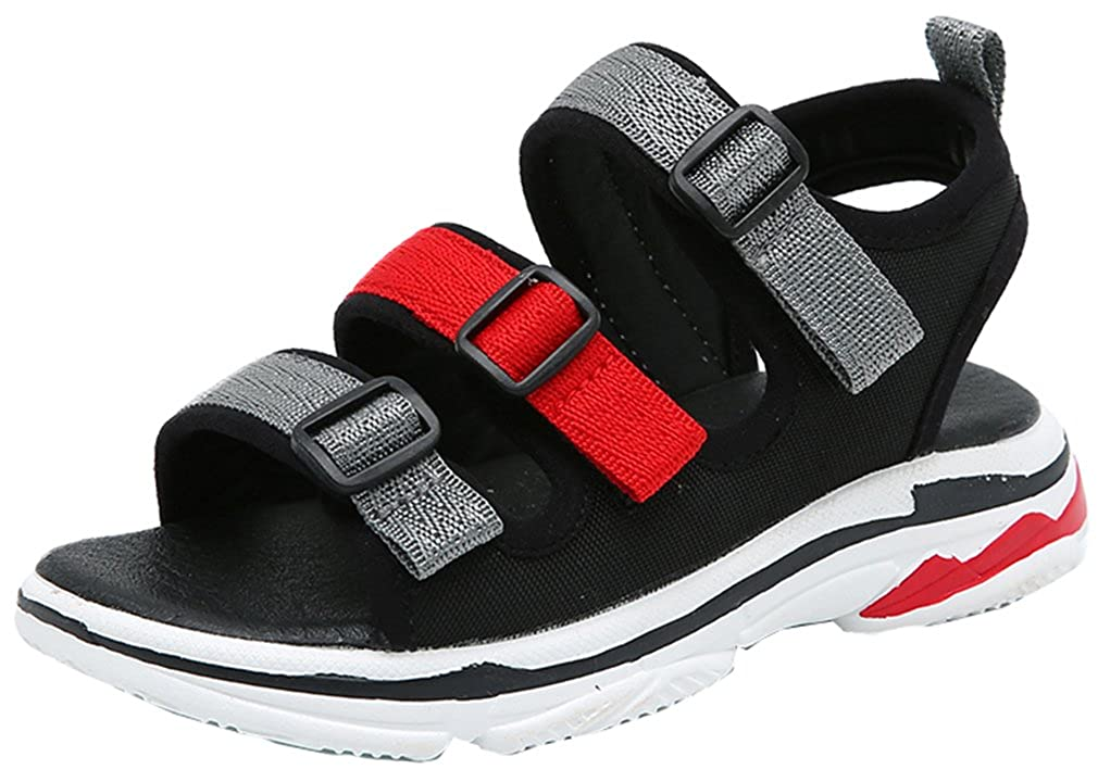 d65d5404ec Amazon.com | VECJUNIA Boy's Girl's Outdoor Sandals Two-Strap Open Toe  Platform Beach Sandals Shoes (Toddler/Little Kid/Big Kid) | Sport Sandals