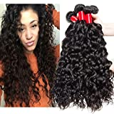 VIPbeauty Brazilian Human Hair Water Wave Bundles 10A Natural Black Can Be Dyed & Bleached 4 Bundles(22 24 26 28)