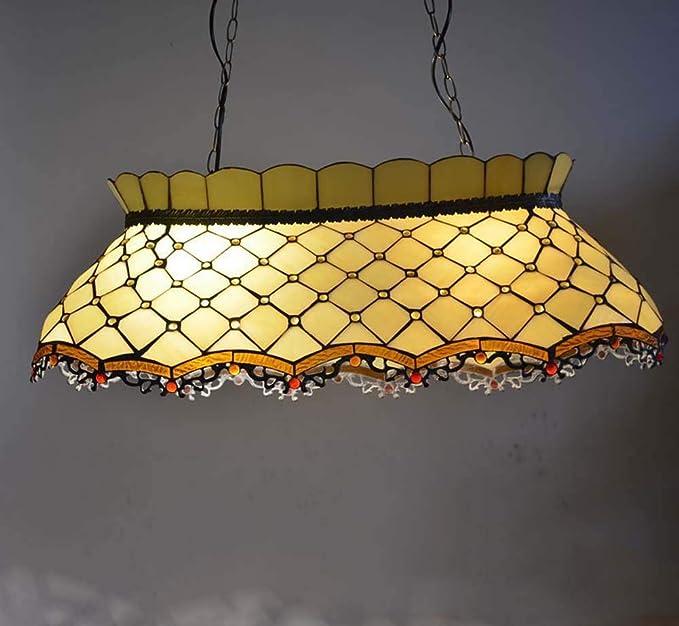 XNCH Lámpara Colgante de Cristal de Estilo Tiffany Lámpara ...