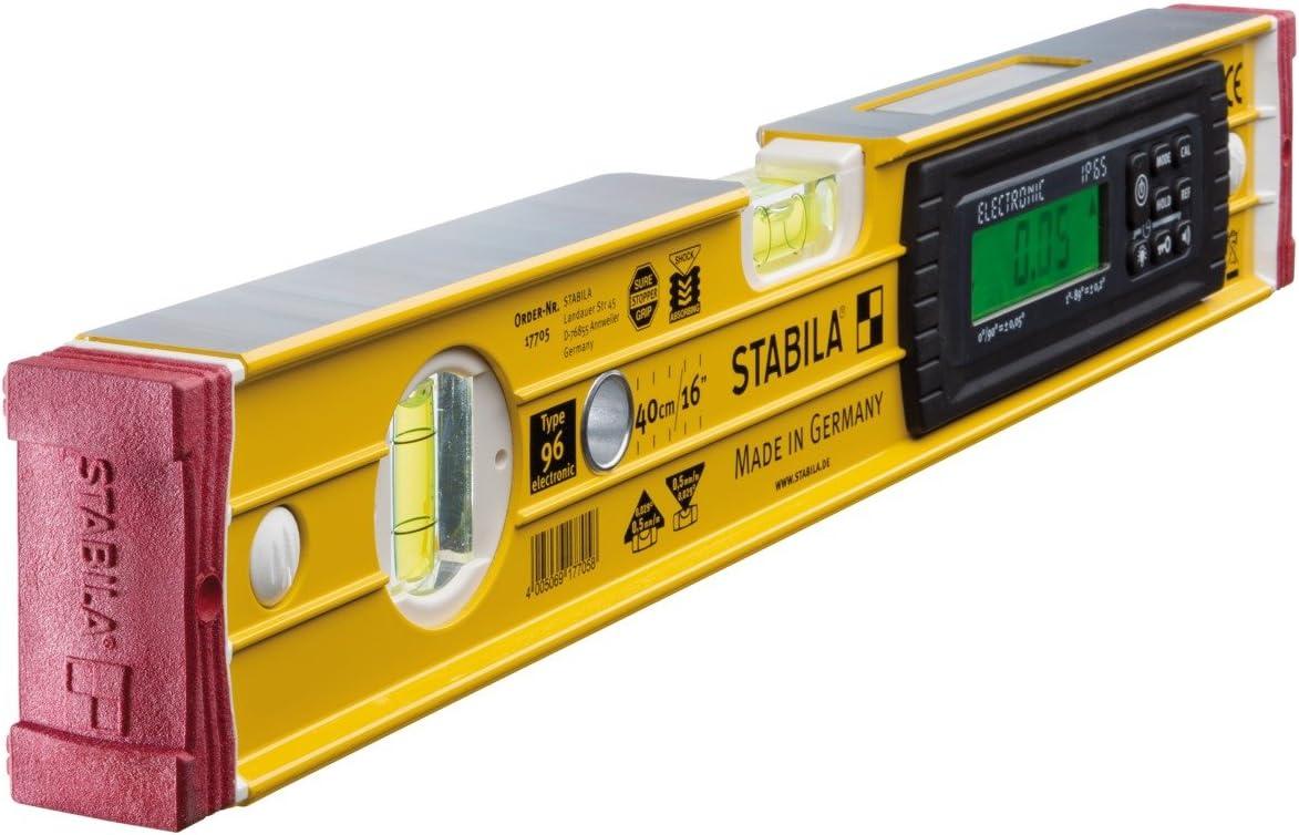 61 cm Stabila 17677 Nivel Electr/ónico con Base Magn/ética