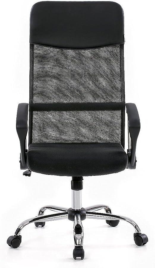 Ikayaa Adjustable Office Chair Executive Chair Stool Swivel Computer Task Chair Amazon Co Uk Kitchen Home