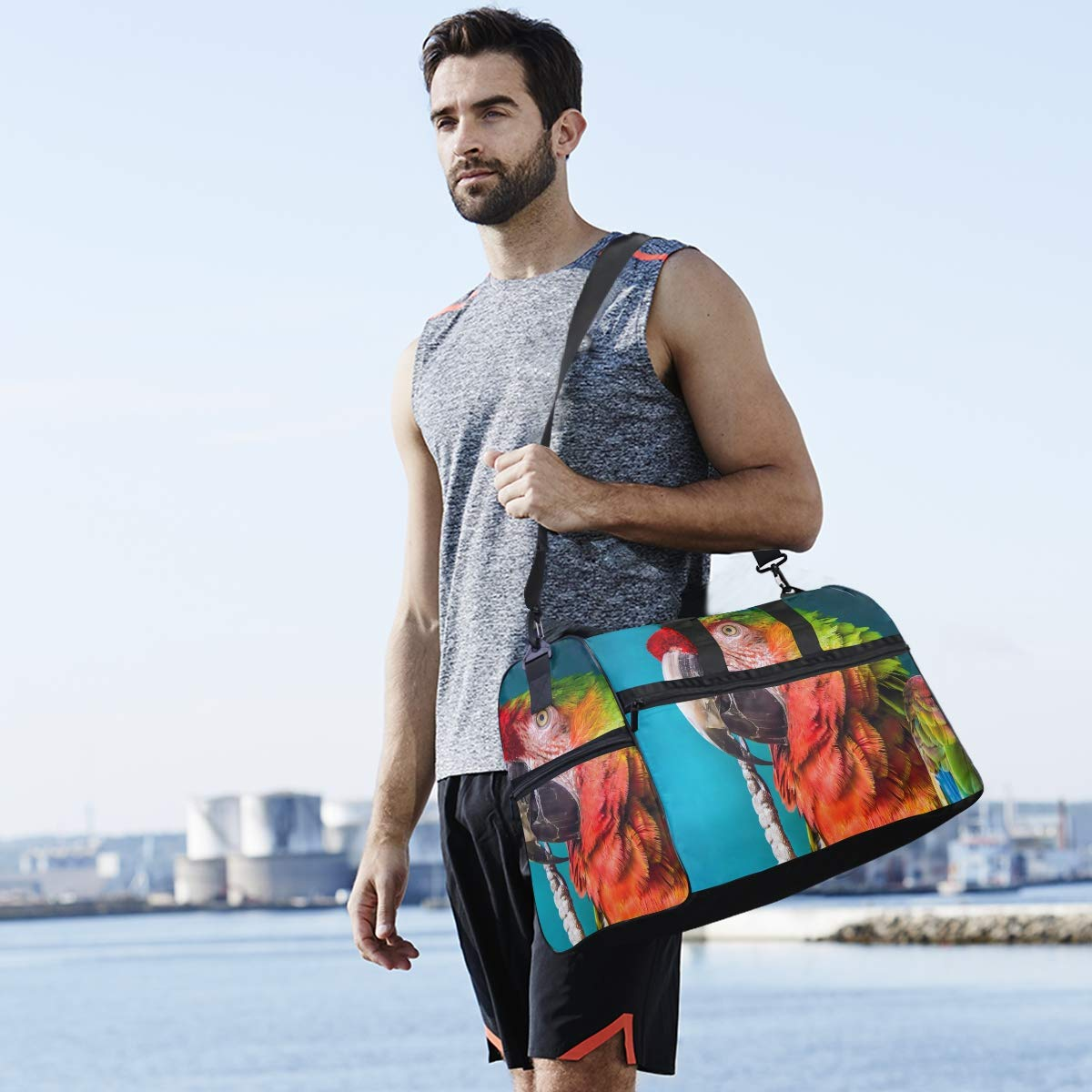 Vacation Travel Duffel Bag 60 Waterproof Lightweight Luggage bag for Sports Gym
