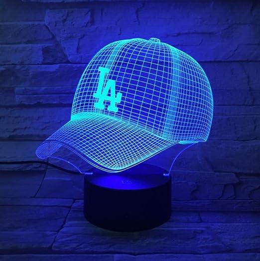Los Angeles Dodgers gorra de béisbol 3D LED luz nocturna USB ...