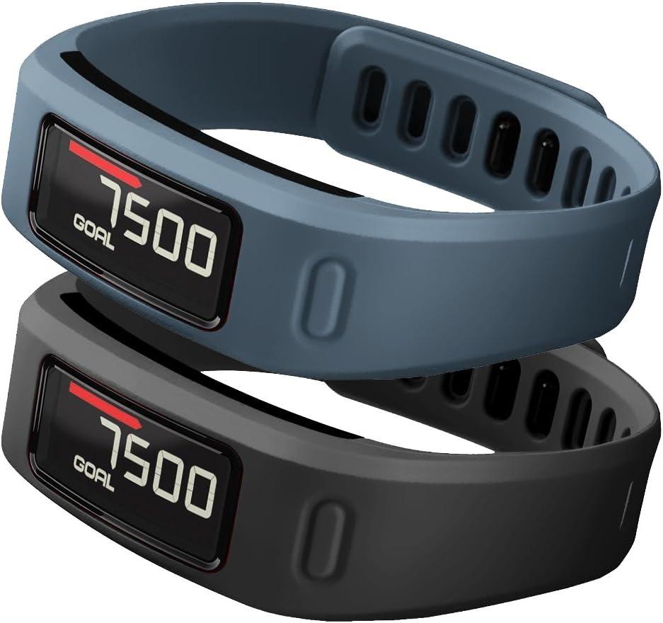 2 Mallas de silicona suave para reloj Garmin Vivofit talle L