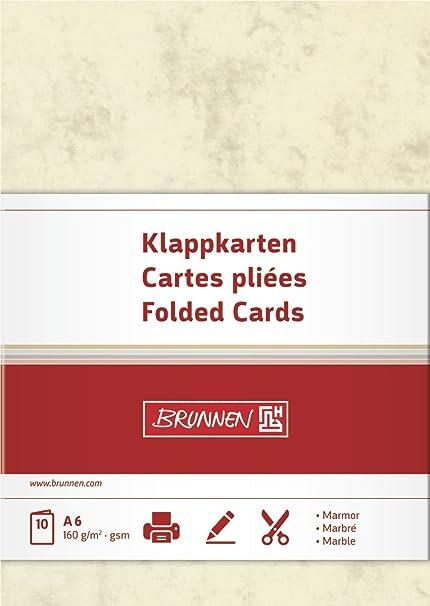Brunnen- Papel de tarjeta multiusos (A6, 160 g/m2, 10 hojas ...