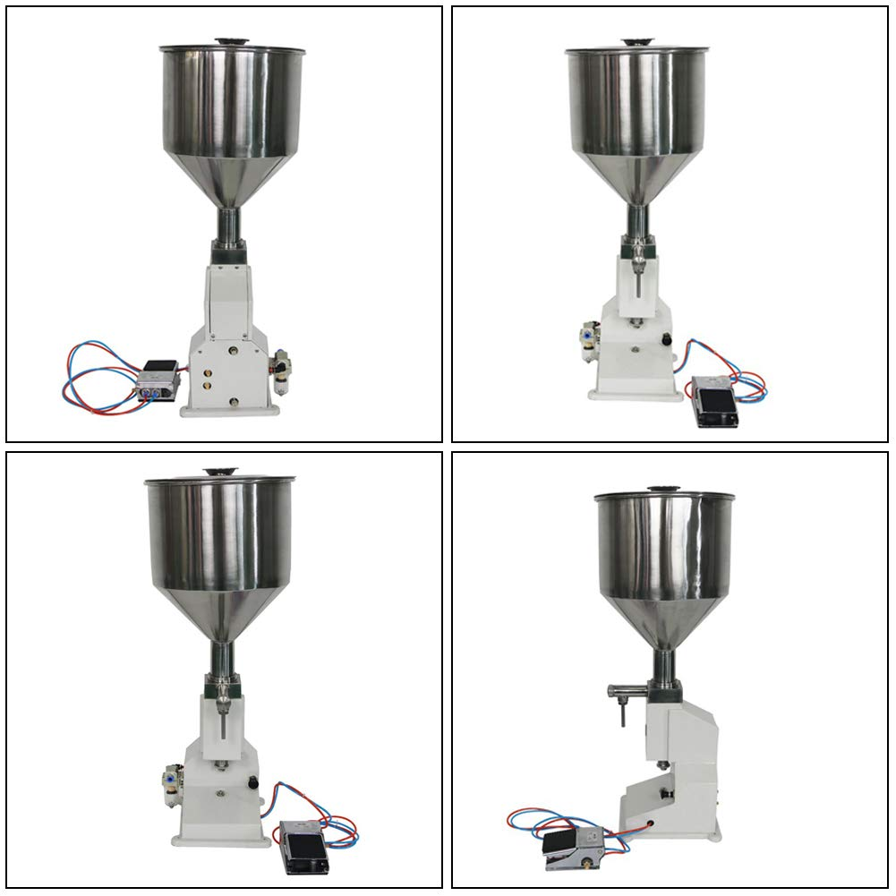 Pneumatic Liquid Cream Filling Machine, 5ml-50ml Horizontal Small-Scale Automatic Filler for Paste High-Viscosity Shampoo Cosmetic Honey Oil by Rbaysale (Image #4)