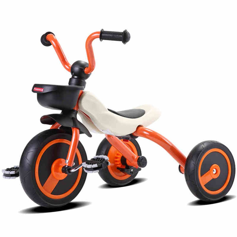 YANGFEI 子ども用自転車 折り畳み機能付きの子供用トライク3輪用自転車三輪車2年から5年(ボディサイズ:90-120/CM)、安定した子供用 212歳 B07DWSCF6J オレンジ オレンジ