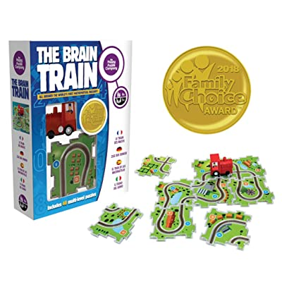 The Brain Train - World's First Mathematical Railway. Award Winner Math Game. Use Math, Logic, Cognitive Skill for Simple Equations & Connect Train Tracks. Correct Answers let The Train Run The Track!: Toys & Games