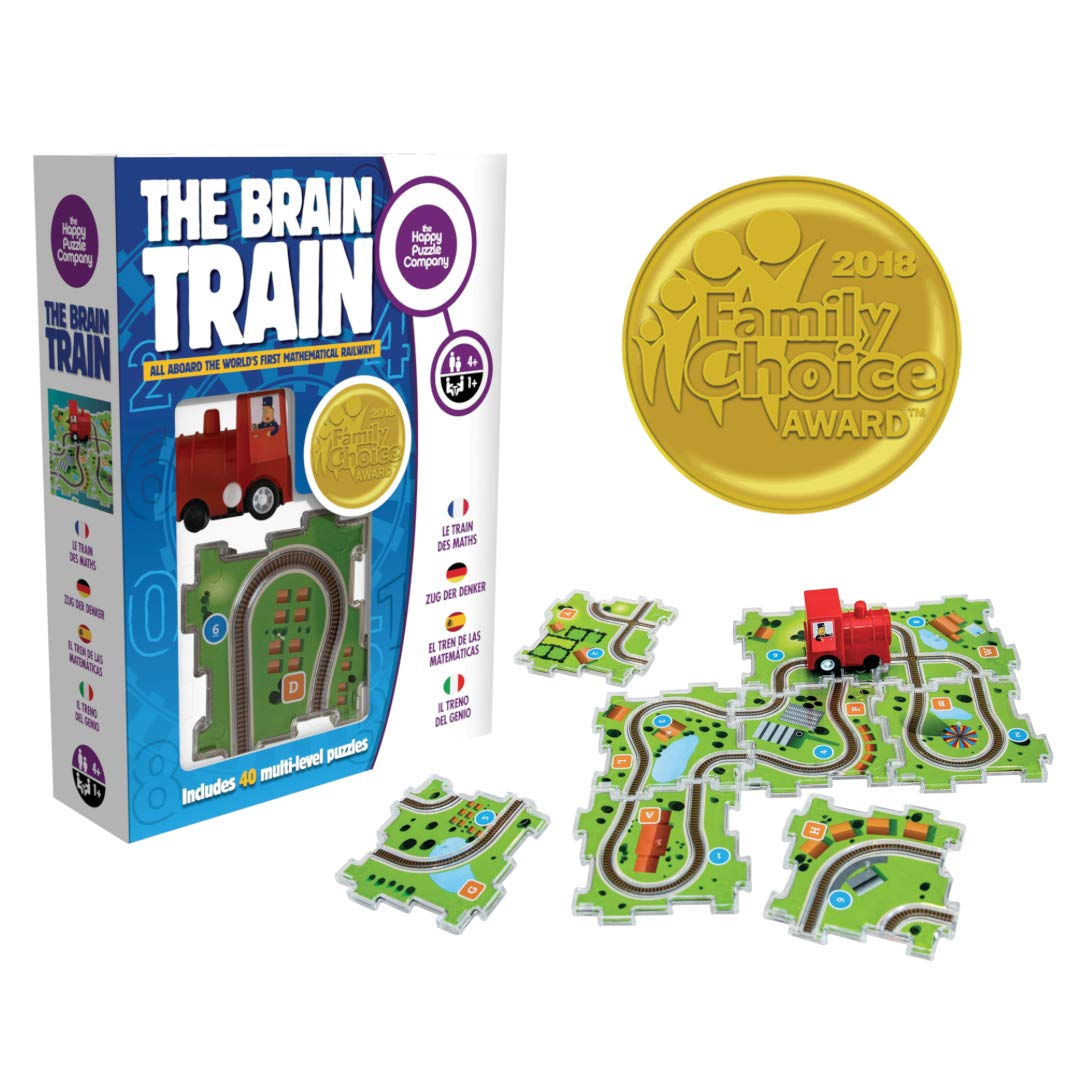 The Brain Train - World's First Mathematical Railway. 2018 Award Winner. Use math, logic, & cognitive skills for simple equations & connect train tracks. Correct answers let the train run the track!
