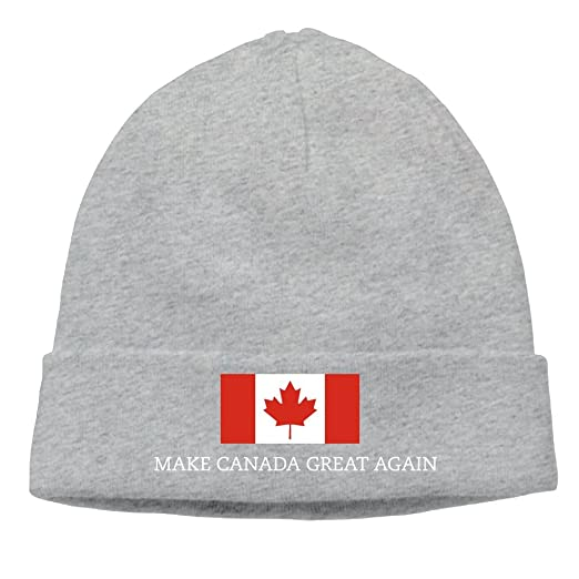 Sincerity-First Mens&Womens MAKE CANADA GREAT AGAIN FLAG Outdoor Daily Beanie Hat Skull Cap Ash