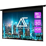 Akia Screens 104 inch Motorized Electric Remote Controlled Drop Down Projector Screen 4:3 8K 4K HD 3D Retractable Ceiling Wal