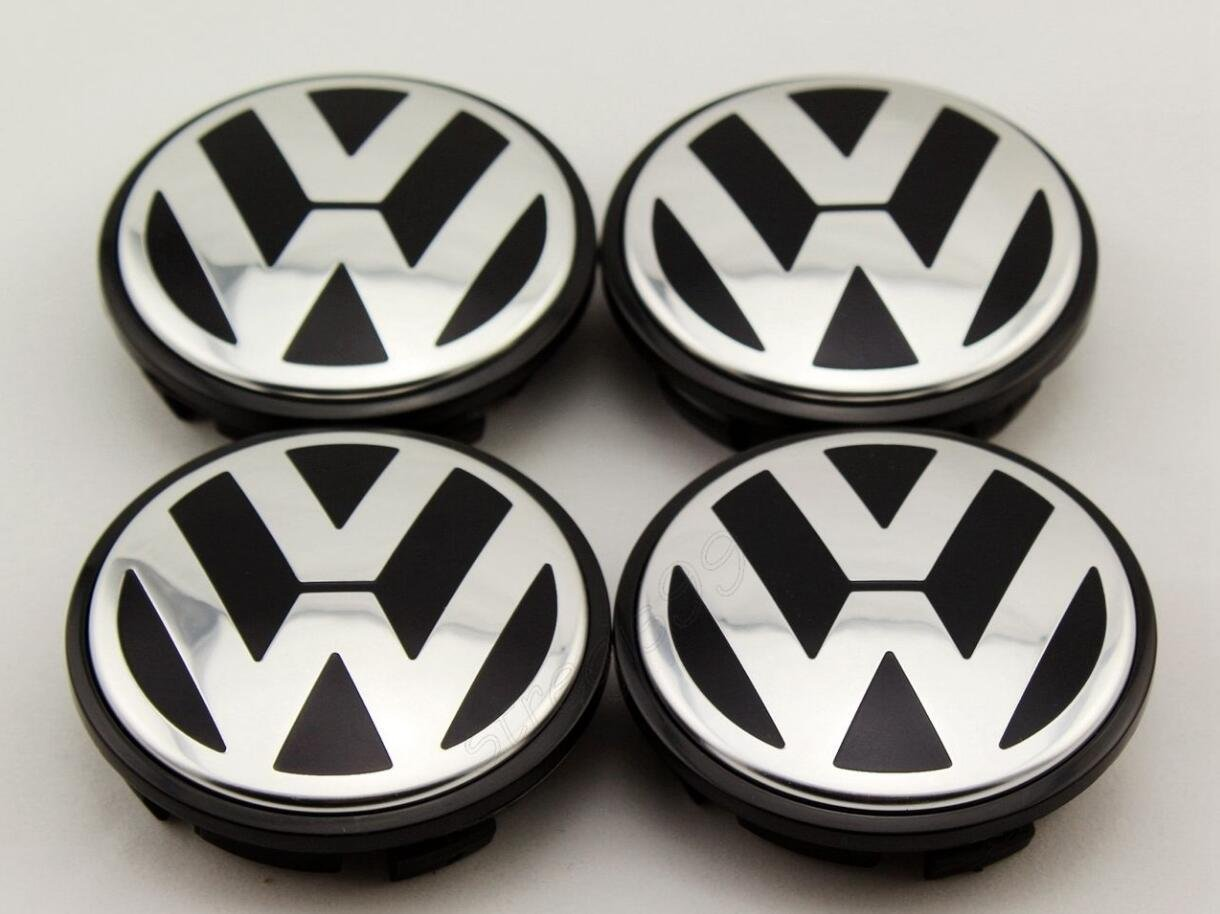 AOWIFT 4 pcs 65mm Wheel Center Cap Hub Cover for VW Volkswagen Golf GTI PASSAT JETTA