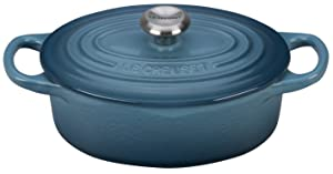 Le Creuset Signature Enameled Cast-Iron 1-Quart Oval (Dutch) French Oven, Marsine